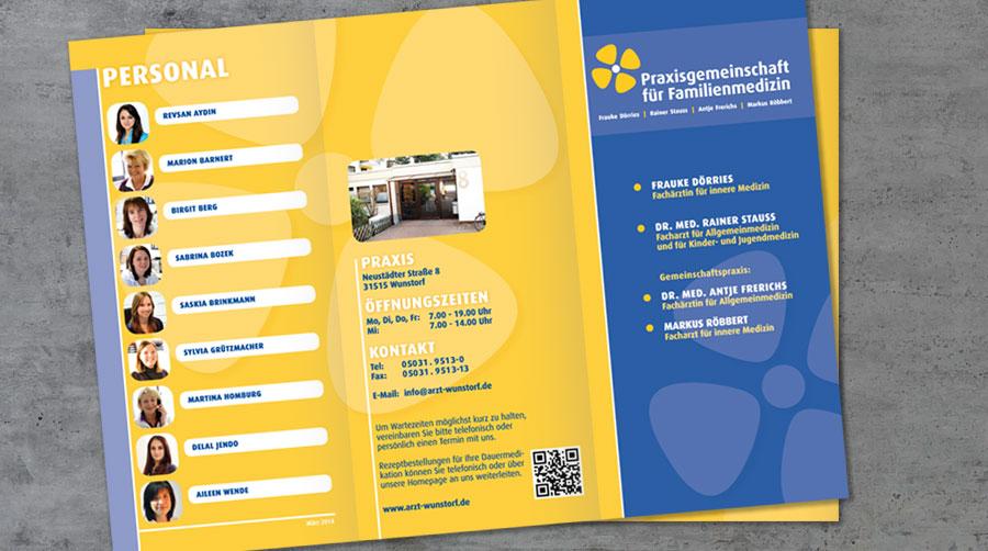Flyer Praxisgemeinschaft für Familienmedizin