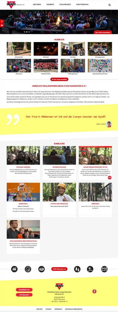 Website CVJM Hannover homepage