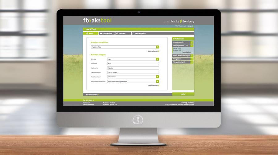 Webdesign AKS-tool, Franke Bornberg