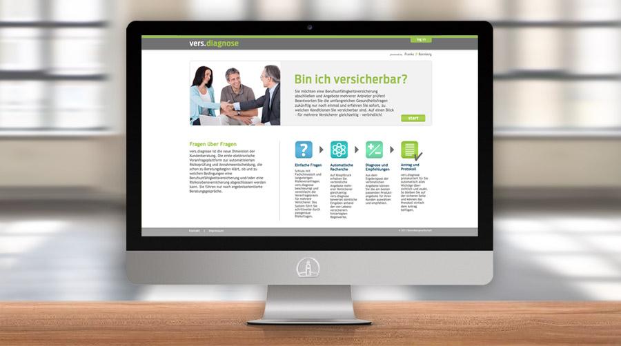 Webdesign vers.diagnose, Franke Bornberg