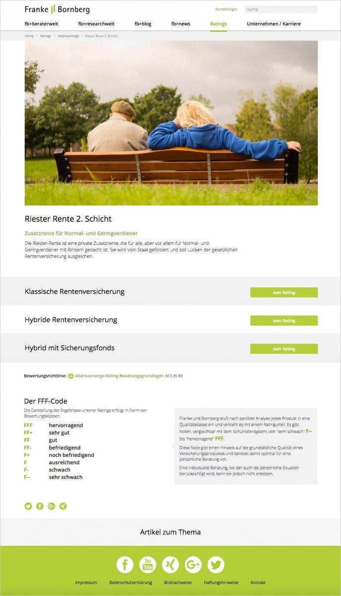 Webdesign Franke Bornberg – Rating Altersvorsorge
