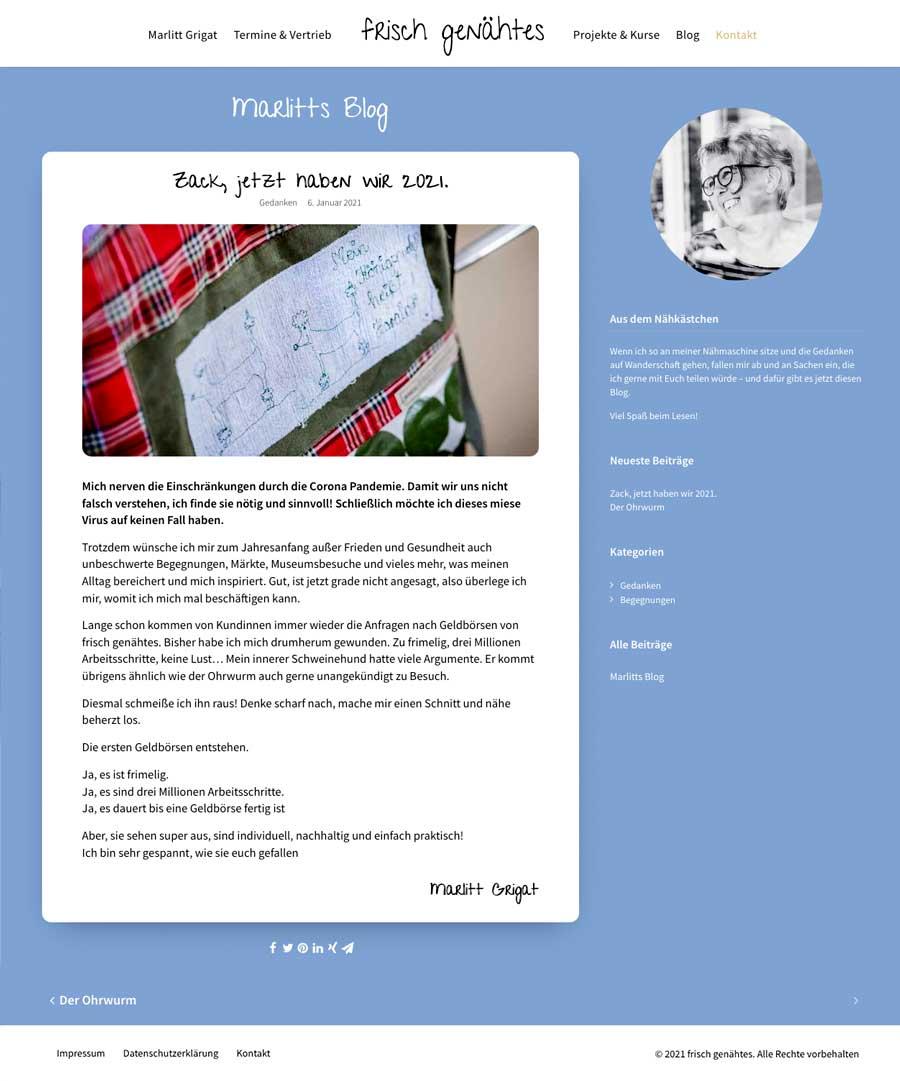 Marlitt Grigat - Blog