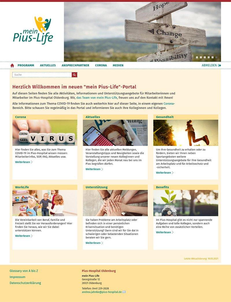 Mein Pius Life Startseite