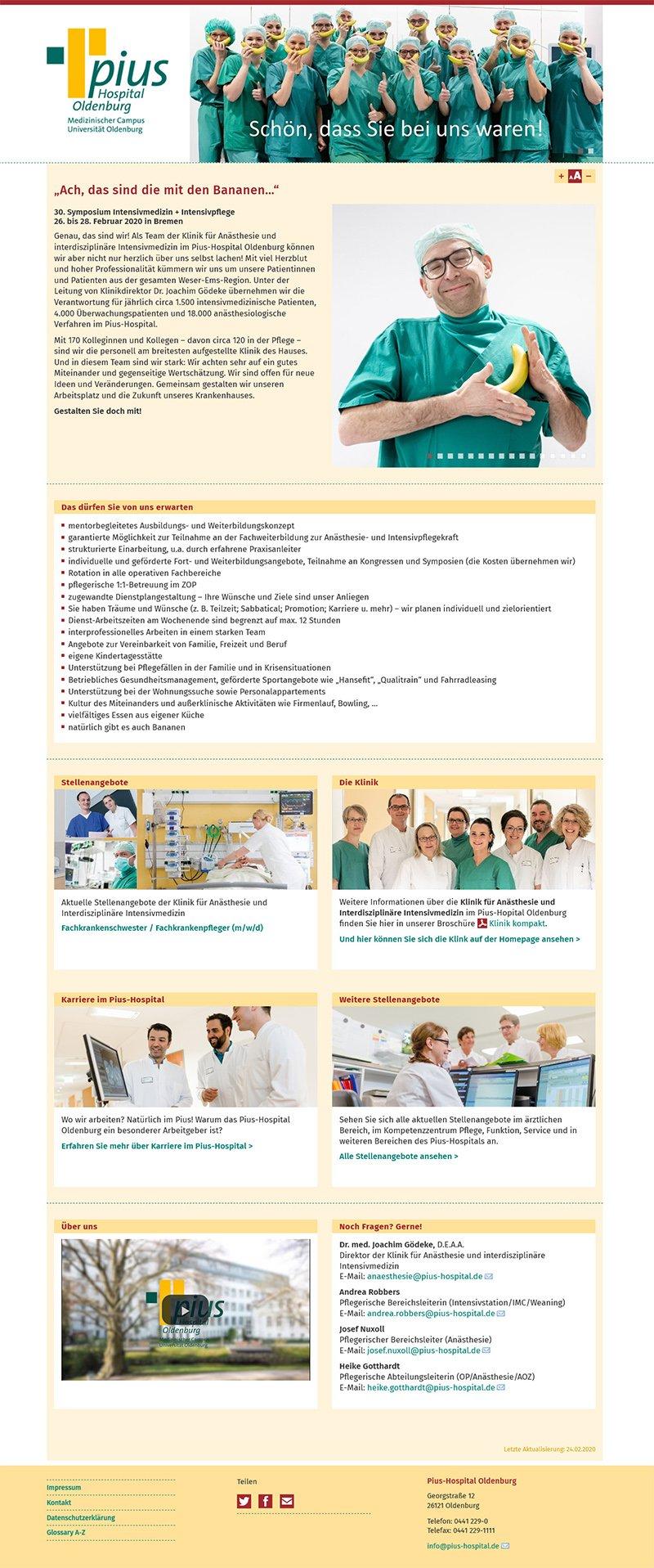 Landing Page Banane Pius-Hospital
