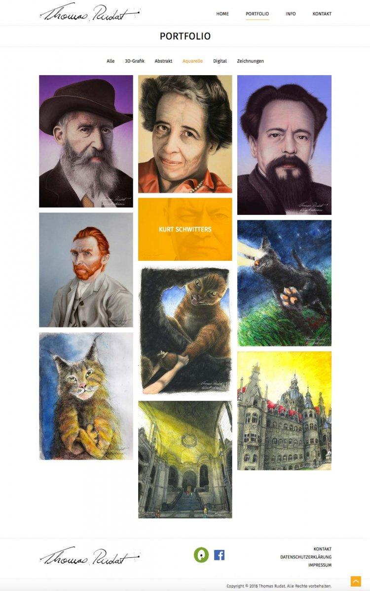 Website Thomas Rudat Portfolio