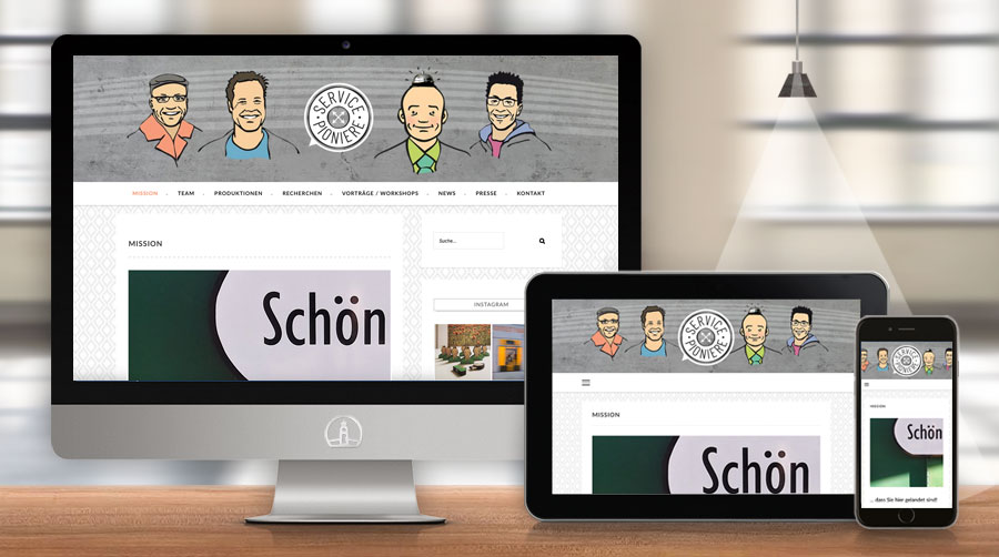 Servicepioniere, Webdesign