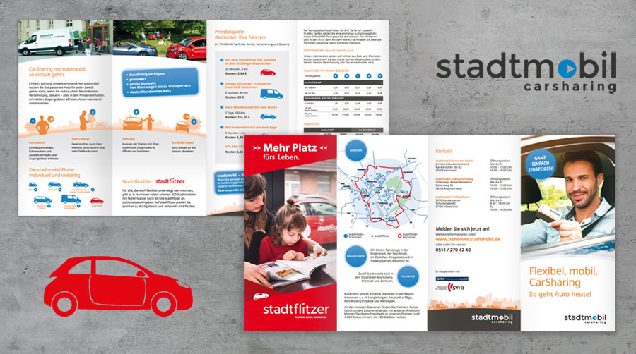 Stadtmobil Carsharing, Update Flyer