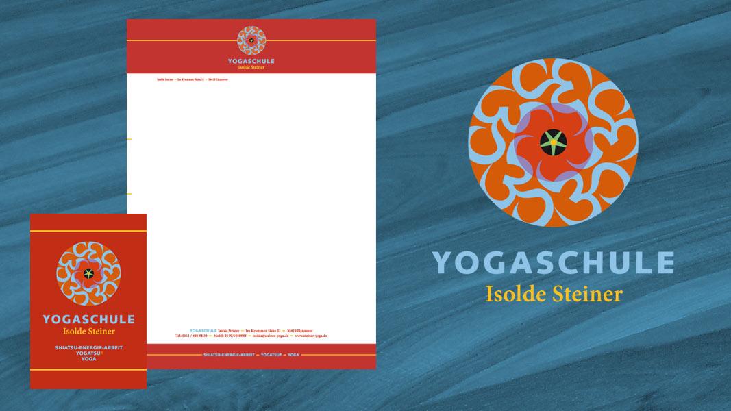Logo Visitenkarte Briefpapier Yogaschule