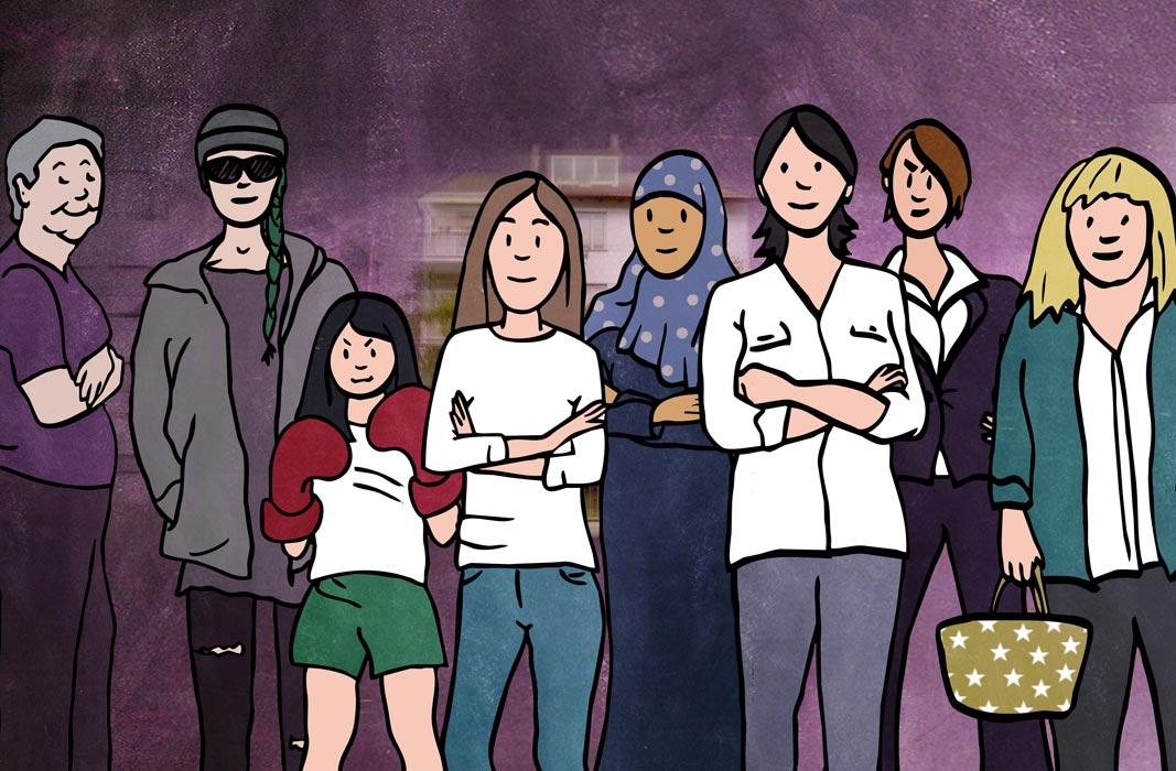 Illustration sexuelle Gewalt Violetta Hannover wir