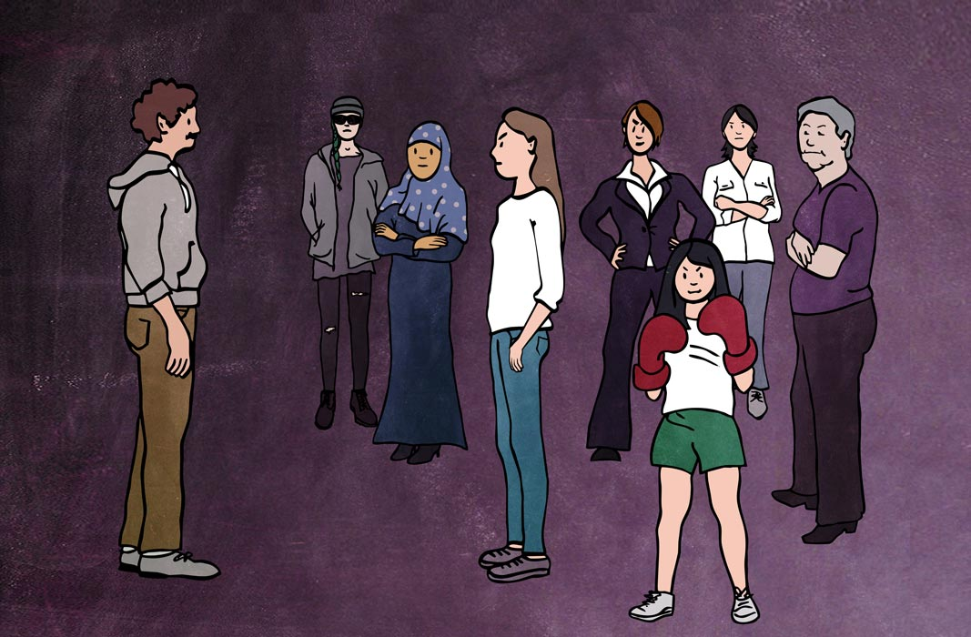 Illustration sexuelle Gewalt Violetta Hannover Solidarität
