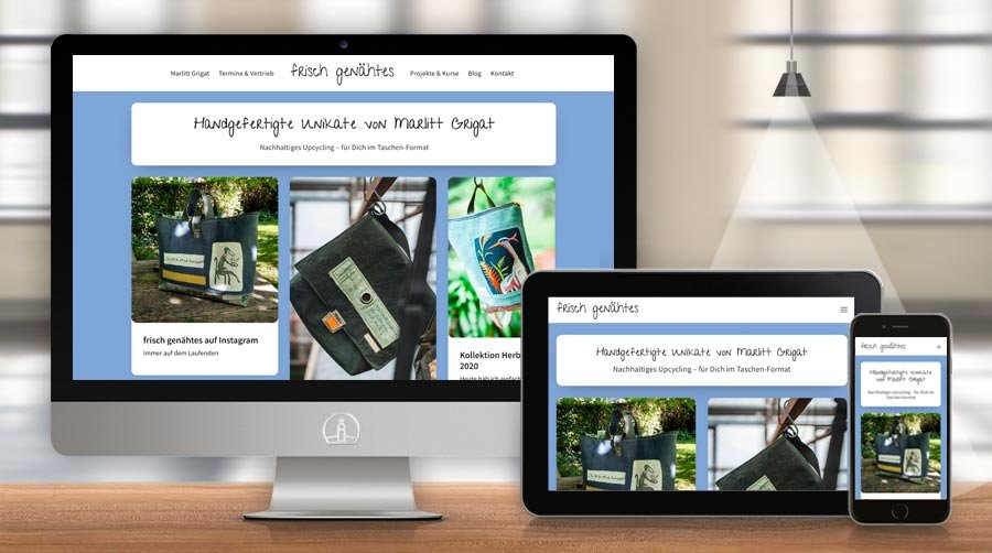 Website frisch genähtes - Taschen-Unikate von Marlitt Grigat