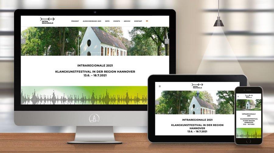 Website Intraregionale - Klangkunstfestival in der Region Hannover