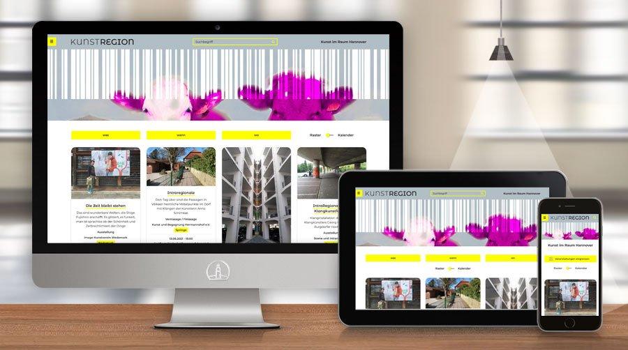 Website kunstregion